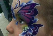 arcfestés pillangó