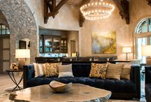Country Home   Residential Design / This country home, is beautifully done with reclaimed beams to add accents to the ceiling.