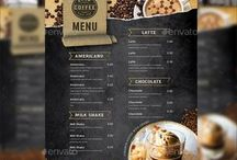 Coffee Menu and logo