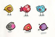 Aqua petits oiseaux