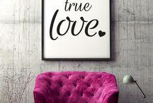 Art Poster, One, true love