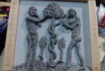 Adán y Eva (relieves)