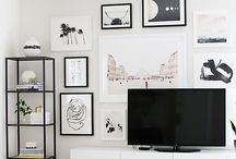 Gallery/TV wall