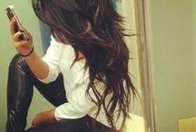 Długie włosy cieniowane
