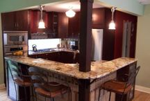 Kitchen - Island with post