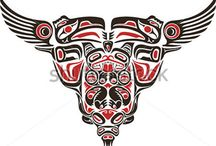 Haida styl tattoo design