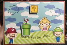 Card Mario stamp set