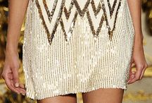 Summer 2015 / White, Lace, Nude, Silk, Deep V Neck, Tassle, Boho, Gold, Sequins
