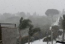 Neve a Macchia è dintorni (Sicilia )