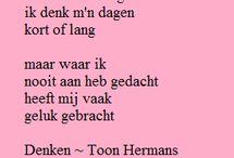 Gedachte gedichtjes