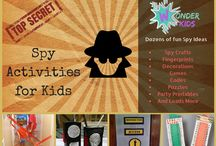 Spy Activities for Kids / Code Breaking, Games, Party printables, Puzzles and loads more spy fun from Wonder Kids