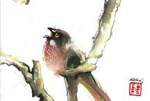 chinese brush p. linnut