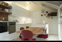Progettazione Appartamento (MB) / Progetto e realizzazione di un appartamento completo a Lissone ( Milano - Monza e Brianza ). Cucina Key Sbabo Cucine, salotto, soggiorno e bagni su misura. Letto Oggioni e armadio Pianca.