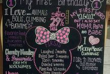 Lucia: 1st birthday ideas!!  Boards!!! / Here there some ideas for the 1st birthday´s board.