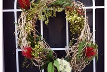 Christmas / DIY Aussie native Christmas wreath from last year.