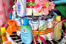 Diaper Cakes/Diaper wreaths/ Gift Baskets / by Natalie Ring
