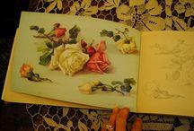 Antique romantic booklets