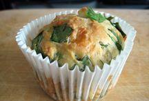 muffin kaas ,fetta spinazie