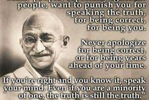 Gandhi Quotes / by Florina Iacob