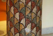 Tiles & Mosaics on Exterior Columns