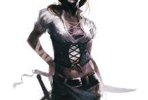 Character design - pirates females