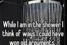 what I do in showers