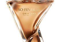 Oriflame Fragancias / ORIFLAME SO FEVER HER perfumer: Vincent Schaller    bergamot, black currant, pink pepper ginger blossom, apple blossom, mirabelle plum sweet sandalwood, red liquorice, black liquorice, vanilla
