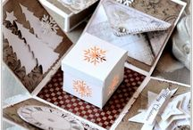 Weihnachtliche Explosionsbox