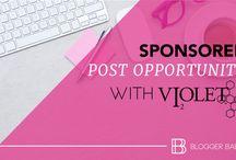 O P P O R T U N I T I E S / opportunities for bloggers, brand-blogger campaigns, partnerships, profitable blogging