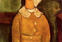 Amedeo MODIGLIANI / Amedeo Clemente Modigliani (1884 – 1920) was an Italian painter and sculptor who worked mainly in France. He is known for portraits and nudes in a modern style characterized by elongation of faces and figures. He died at age 35 in Paris of tubercular meningitis.