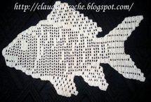 Tapete peixe em crochet