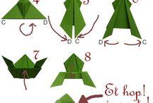 papierové skladačky, origami...