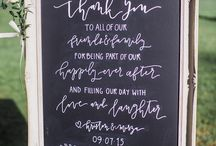 Wedding signage board