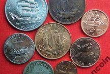 Монеты с Кораблями Парусниками Ships Coins