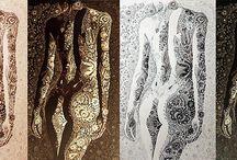 La Femme / Hungarian Folk Art Inspiration by Meinda Szalai