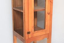 Meat Safes and Kitchen Cabinets / These handmade wooden kitchen cabinets add country character and practical storage to a kitchen. Handmade wooden egg cabinet for storing a dozen eggs securely for quick access during cooking.