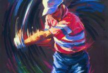 golf schilderijen