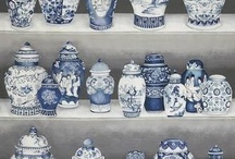 Chinoiserie, china in blue