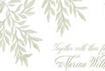Wedding Stationery Wreaths, Leaves & Greenery