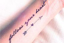 • Tatouage • Tattoo / Découvrez ici des idées de tatouages.