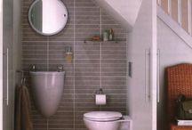 hall bathroom ideas / by Leslie Foss