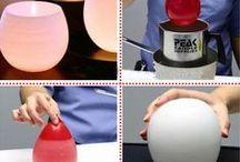 velas com baloes