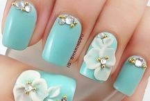 3d nail flowers