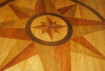 Painted floor inlay look - stencils / Painted floors using stencils