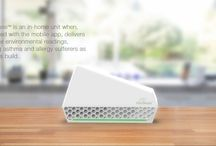 Alersense / Introduction  The AlerSenseTM Smart Air Quality Sensor for Allergies and Asthma is designed to detect indoor air quality parameters which act as 'triggers' for people suffering from allergies, asthma and other respiratory issues. Triggers are contaminants, particles or chemicals present in the air that can illicit a response for people with allergies or asthma including pollen, dust mites, mold spores, dust and chemicals in the air.