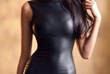 Tight dress leather