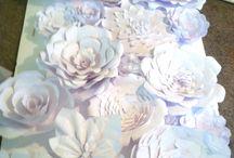 Creative flower wall