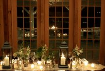 December Rehearsal Dinner & Welcome Party / Intimate dinner held in our event barn followed by we welcome party with all of our couple's friends and family  Rentals by Rain or Shine, Janet Dunnington Destination Wedding orchestrated event