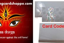 TRIVENI CARDS - WISHES HAPPY NAVRATRI / TRIVENI CARDS - WISHES HAPPY NAVRATRI  http://weddingcardshoppe.com/ViewLargeCard.asp?CardCode=5208  Navratri is a festival dedicated to the worship of the Hindu deity Durga. The word Navaratri literally means nine nights in Sanskrit, nava meaning nine and ratri meaning nights