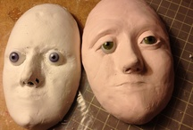 Mix media and paper clay / Many different ways i use the paper clay in all my ideas. Where my dreams come true.